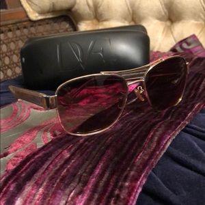 Vintage Coach Gold Aviator Monogram Sunglasses